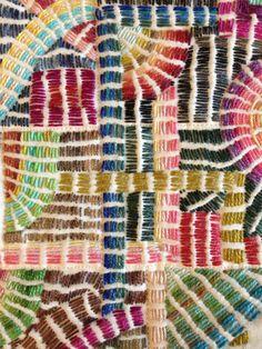 Olympus Sashiko Fabric - Sashiko Placemat Kit # 166 - Seven Treasures - Navy - Japanese Embroidery - Embroidery Design Guide Sashiko Embroidery, Japanese Embroidery, Modern Embroidery, Embroidery Thread, Embroidery Applique, Embroidery Designs, Hand Embroidery Patterns, Embroidery Techniques, Boro