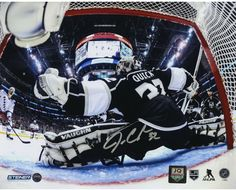 Jonathan Quick Signed 2014 Stanley Cup Net Save 8x10 Photo