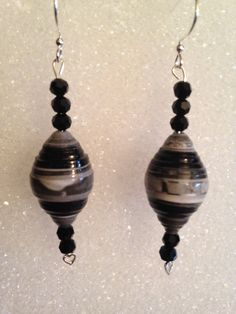 Paper Bead Earrings by ACertainScottness on Etsy