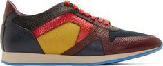 #LOVE Burberry Prorsum Blue & Burgundy Multi Colorblock Sneakers