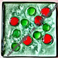 Fused glass tile.