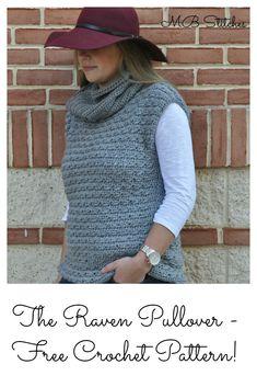 Pullover Crochet Vest - free pattern!  #crochet