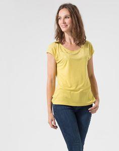 Tee-shirt à manches courtes Miel à strass Pluie T-Shirts - Eva Herzigova 1-2-3.fr