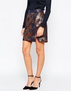 Image 4 - Warehouse - Mini jupe en jacquard