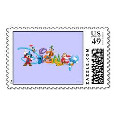 Disney Logo 2 Stamps. This great stamp design is available for customization or ready to buy as is. Of course, it can be sent through standard U.S. Mail. Just click the image to make your own!