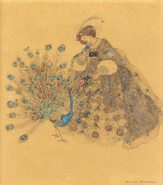 "Annie French - ""THE PEACOCK AND THE ROSE"""