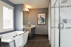 Calgary SAM Awards Finalist 2014 - Brighton Showhome - Vesta Collection at Coopers Crossing in Airdrie Alberta Calgary, Brighton, Awards, Bathtub, Mirror, Bathroom, Furniture, Collection, Design