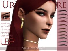 The Sims Resource: Dalia Eyebrows by Urielbeaupre • Sims 4 Downloads Sims 4 Cc Skin, Sims Cc, Henna Eyebrows, Eyebrow Makeup, Eyebrow Cut, Eyebrow Shapes, Prom Makeup, Eye Shapes, Sims 4 Cc Makeup