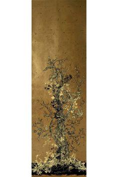 Golden Oriole wallpaper panels