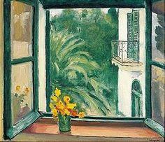 Albert Marquet: La Fenêtre A Alger, Capucines Henri Matisse, Kunst Inspo, Art Inspo, Figurative Kunst, France Art, Window Art, Impressionism Art, Artwork, Cool Art