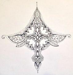 Sternum tattoo design.