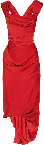 VIVIENNE WESTWOOD Ball Tie Silk Crepe De Chine Dress   Sex & The City Date   dressmesweetiedarling