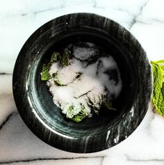 """Mint sugar.  """"It is the destiny of mint to be crushed."""" Waverley Lewis Root."""