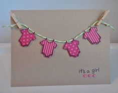 Baby Cards cute baby shower or announcement, stamped handmade card Handmade Baby, Baby Shower Cards Handmade, Unisex Baby Shower, New Baby Cards, Baby Scrapbook, Diy Cards, Homemade Cards, Baby Shower Invitations, Decoration