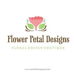 Logo Design Concept for Flower Petal Designs by Camille Chung