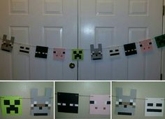 Handmade Minecraft inspired characters banner... by ANGIEWHITE77FL