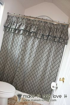 Decorate My Home, Part 17 – Ruffled Shower Curtain | Make It and Love It