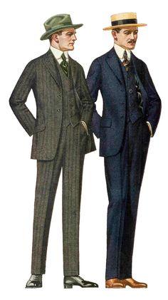 Mens Fashion in 1908