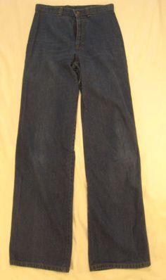 Vintage-Levis-Jeans-Women-Rare-70s-High-Waisted-Trouser-Orange-Tab-W29-Dark-Wash
