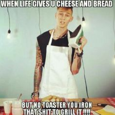 • I LOVE MGK He's so funny! •