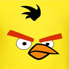 yellow angry bird face - Google Search