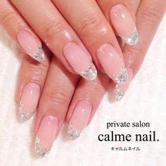 かわいいネイルを見つけたよ♪ in 2020 Japanese Nail Design, Japanese Nails, Kawaii Nails, Bride Nails, Pretty Hands, Nail Art Hacks, Nail Inspo, Nails Inspiration, Beauty Nails