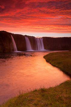 Iceland sunset. Just outside Hrifunes. Southern Iceland