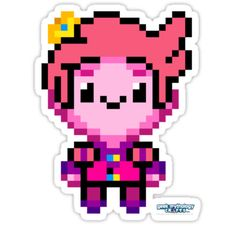 Cute, pixel-y prince of the Candy Kingdom! / This pixel art was originally drawn by one of the crazy folks at Geek Mythology, LLC. We love creating retro-style art and hope that you'll enjoy our original pixel-work! / Check out even more of our work at geekmythologycrafts.com • Also buy this artwork on stickers and apparel.