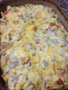 King's Hawaiian Roll Sausage Breakfast Casserole Recipe