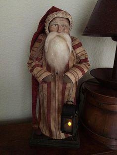 OOAK Handmade Primitive Santa by HeartFeltPrims on Etsy - Susan Bonczyk