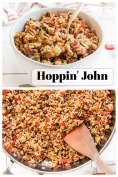Hoppin John recipe from RecipesForHolidays.com #hoppin #john #hoppinjohn #recipe #newyears #goodluck #RecipesForHolidays