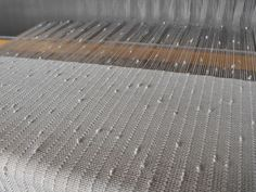 Dust Bunnies Under My Loom: Cream Wedding Shawls 20/2 tencel/cotton blend with rayon knops accent yarn