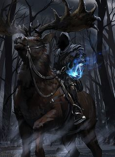 dark rider on beast not monster, inspiration, friend with beast and nature
