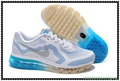 5a6cee05733 calzado Hombre-Mujeres 621077-104 Nike Air Max 2014 Blanco Negro Azul  foto Hyper Cobalt