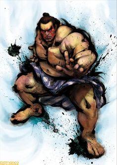 Street Fighter IV official artwork of Edmond Honda.