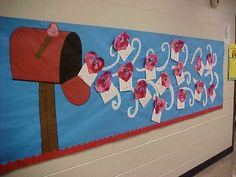 Love is in the Air, http://hative.com/creative-valentines-day-bulletin-board-ideas/