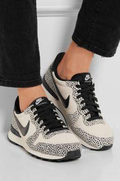 Nike - Internationalist suede, nubuck and leather sneakers