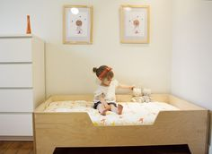 DIY Toddler bed with birch plywood