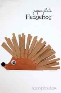 Paper Plate Hedgehog carft