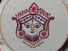 Hindu goddess Durga.  Beautiful!