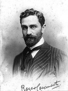 """Sir Roger Casement, from the National Library of Ireland on The Commons, via Flickr. """"Casement (1864-1916): civil servant, explorer, human rights campaigner, Irish nationalist. He was executed on 3 August 1916, following his conviction for high treason."""""""