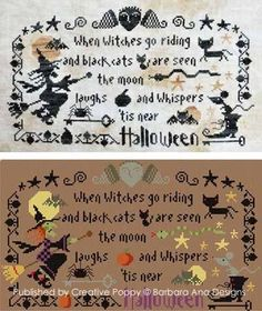 Halloween The Moon Laughs cross stitch chart Barbara Ana Designs $8.10