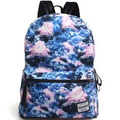 Clouds Printing Canvas Backpack