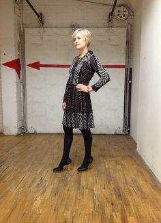 Ann Wood / BCBG dress