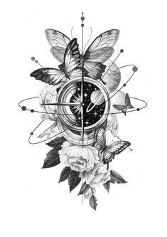 Mädchen Tattoo, Leg Tattoos, Flower Tattoos, Body Art Tattoos, Small Tattoos, Sleeve Tattoos, Cool Tattoos, Tatoos, Art Drawings Sketches