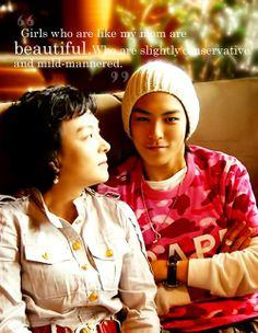 TOP is so sweet with his mom!