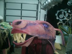 Shrek dragon puppet made by Maxwell Dowie for headliners production of Shrek.