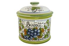 Malvasia Biscotti Cookie Jar on OneKingsLane.com....would love this.