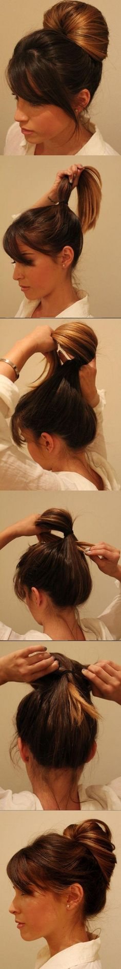 peinado estilo largo con accesorios