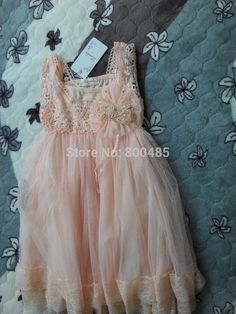 Find More Dresses Information about  Retail~High quality Girls Lace Crochet Princess Dress with Brooch Size 90 150cm ,High Quality dress shoes tall women,China dress toy Suppliers, Cheap lace mermaid wedding dress from Leader international trade company on Aliexpress.com
